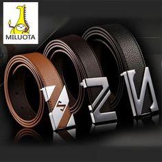 [MILUOTA] 2015 cinturones hombre brand belts for men ceinture high quality