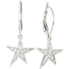 Penny Preville 18k White Gold Pave Diamond Star Drop Earrings 4 175 Brl Liked