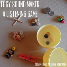 Adventures at home with Mum: Egg Sounds : A Listening & Critical thinking Game