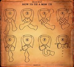 Tutorial on how to tie a bow tie. I'll be looking back on this soon.
