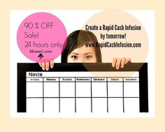 90% off sale! Want a quick cash infusion in your business? Learn how to create offers, build a list and much more! One day only sale! Www.RapidCashInfusion.com