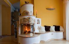 Steinbach | Cserépkályha, kandalló, tűzhely Thermal Mass, Rocket Stoves, New Homes, Modern, House, Fireplaces, Home Decor, Cooking, Drive Way