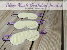 seven thirty three - - - a creative blog: PJ Party {Picture Heavy}  sleep mask birthday invite -free printable!!
