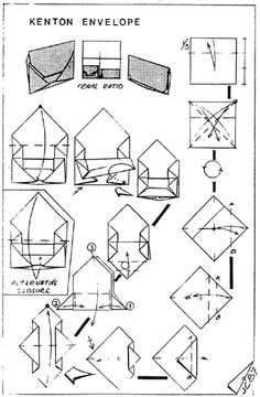 Envelope And Letter Folding BoxLock Letterfold  Origami Envelop