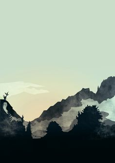 Misty Mountain #Art Print by Schwebewesen #society6