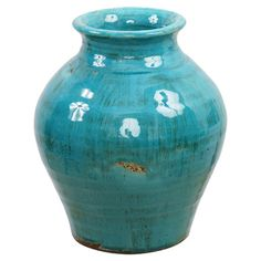 Handmade ceramic jar in a weathered finish.   Product: JarConstruction Material: CeramicColor: French ...YES!
