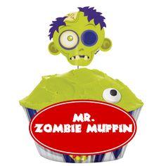 Furchterregend Schönes Muffin Set Im Zombie Look. Mit Picker, Zuckeraugen  Und Muffinförmchen