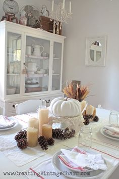Fall with White! Tablescape
