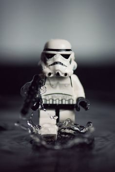 Lego Storm Trooper rolling out.