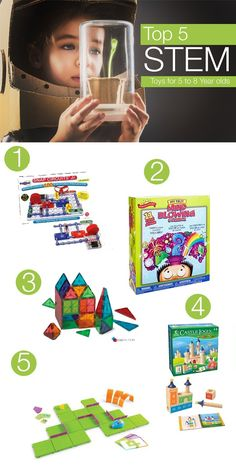 Top 5 STEM Toys for 5 to 8 Year Olds