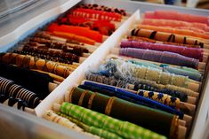 Organize your ribbon using index cards