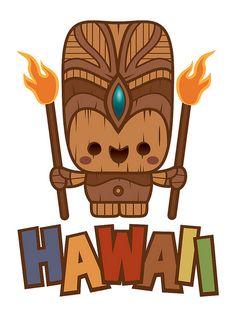 Kawaii Fire Tiki by Jerrod Maruyama, via Flickr