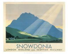 Vintage LMS Prestatyn North Wales Railway Poster  A3 Print