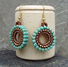 by Ruth Kiel Bead Jewellery, Beaded Jewelry, Beaded Bracelets, Jewelry Gifts, Jewelry Ideas, Diy Jewelry, Fabric Origami, Stone Beads, Personalized Jewelry