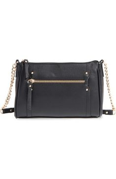 c163d39af31 Zip Front Faux Leather Crossbody Bag available at  Nordstrom Handbag  Accessories, Coco