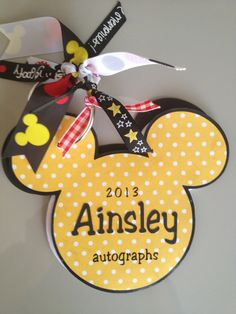 Custom  Disney Autograph Book by ThreePaperTulips on Etsy, $8.00