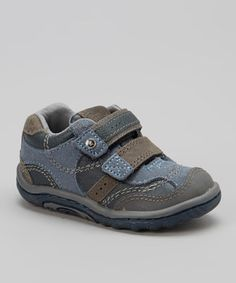 Take a look at this Gray & Navy Will Sneaker by Stride Rite on #zulily today!