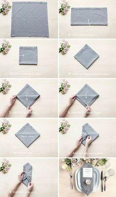 How To Fold A Napkin With A Menu