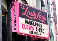 Always loved the sassy marquee!