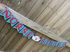 Nurse Graduation Banner, Nurse Banner, Nurse Graduation Party, Nurse, Nurse Party by SavorEachSecond on Etsy