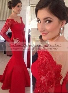 Cheap lace sample, Buy Quality lace dress blue directly from China dress flamenco Suppliers: Vestido De Formatura 2014 Long Sleeve Prom Dress Lace Mermaid Red Prom Dress 2014 Robe De Soiree Vesti