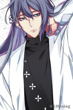 Vocaloid, Kaito, Gakupo Kamui, Handsome Anime Guys, Cute Anime Guys, Character Concept, Character Design, Anime Long Hair, Boys Long Hairstyles