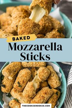 Baked mozzarella sticks are easy to make and healthier than the fried version. They are crispy on the outside and gooey in the middle, the perfect appetizers for game days, parties or just a cozy night in.  #stringcheese #mozarellasticks #fingerfood #appetizerrecipe #partyfood #gamedayappetizer Crackers Appetizers, Bacon Wrapped Appetizers, Game Day Appetizers, Appetizer Recipes, Dinner Recipes, Mozzarella Sticks Recipe, Creamy Spinach Dip, Roasted Garlic Aioli, Seasoned Bread Crumbs