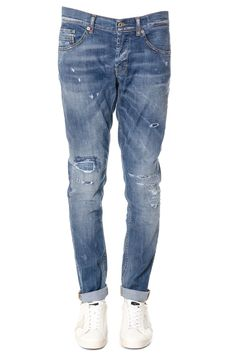 DONDUP RITCHIE DENIM COTTON STONE WASHED JEANS. #dondup #cloth #