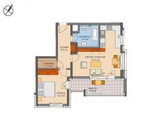 Prodej bytu 2+kk, 59 m2, ul. Zakšínská, Praha - Střížkov
