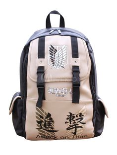 Special Attack on Titan Anime Bag for Men - Milanoo.com>>> I think I prefer the previous bag I pinned, but this one is pretty awesome as well!