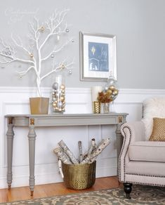 1000 Images About Hallway On Pinterest Silver Console