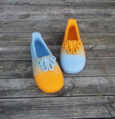 wet felted wool slippers WHIMSY / KAPRĪZE pamana.lv