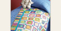 Play with Colors and Shapes in This Easy Quilt! Wonky Log Cabin blocks are simply delightful in this charming quilt. It has a young and vibrant look that is perfect for a baby or an older child. The variable piano key border goes perfectly with the fun personality of the quilt. While any child will …