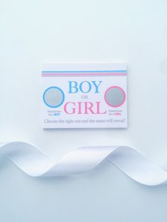 Gender Reveal Scratch Off Cards. Customizable to meet your needs. Available at Anchor52.etsy.com