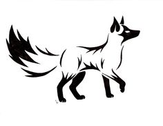 Fox tattoo - not a fan of the filled in black parts, but maybe done in color?