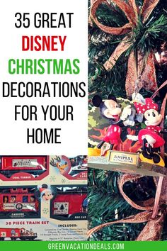 Looking for some new ideas for Christmas decorations this year? Are you a Disney fan? Check out this list of 35 fun Disney Christmas decorations. You're sure to find something (or a lot of things!) to add to your seasonal home decor. Celebrate the holidays with these great items themed to Disney favorites like the theme parks (like Disney World & Disneyland Paris), Disney Princess, Mickey & Minnie, Winnie the Pooh, Toy Story, Rapunzel & Flynn Rider, Star Wars, Snow White & more.