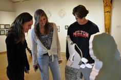 Students visit Milton's Nesto Gallery to take in the latest exhibit, Connections/Conexiónes