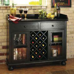 Howard Miller Cabernet Hills Wine Bar Wine Furniture at Hayneedle Wine Bar Cabinet, Wine Cabinets, Wine Hutch, Wine Buffet, Buffet Server, Wooden Rack, Wood Wine Racks, Wine Furniture, Furniture Design
