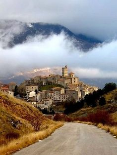 Castel del Monte is a medieval Renaissance hill town in the province of L'Aquila in northern Abruzzo.