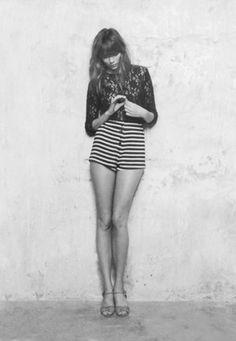 high waist shorts. .