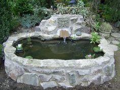 Raised Stone Pond - Cut No Corners - Taunton Somerset Outdoor Ponds, Ponds Backyard, Outdoor Gardens, Garden Pond Design, Garden Pool, Yard Design, Landscaping With Rocks, Pool Landscaping, Above Ground Garden