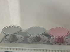 White Pedestal Cake Stand with Double Scallop by JansPetitPantry