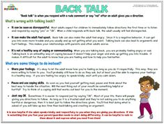 Back Talk Mylemarks is a company dedicated to providing parents and professionals with helpful resources to teach social-emotional skills to children. These tools include counseling worksheets, handouts, workbooks, and much more! Social Skills Lessons, Social Skills For Kids, Teaching Social Skills, Social Emotional Learning, Coping Skills, Life Skills, Teaching Strategies, Social Anxiety, Counseling Worksheets