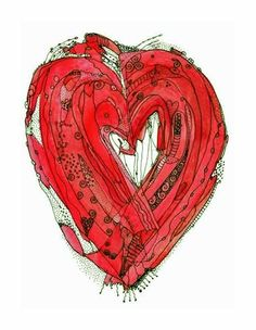 Lovers Heart Two print by ingridsart on Etsy, $20.00 LOVE HER ART!!!