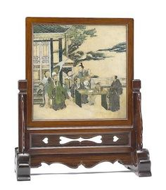 A huanghuali mounted table screen 19th Century Sold for US$ 17,690 (£11,532) inc. premium