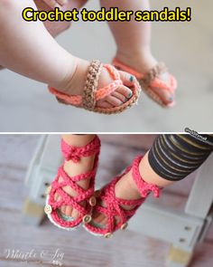 These Crochet Toddler Sandals Might Be The Most Adorable Things Ever. This Etsy shop sells crochet baby sandal plans that let you create your own version of the cute crochet sandal.