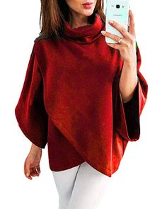 RRINSINS Women V Neck Solid Satin Long-Sleeve Top Pullovers Shirts 1 X-Small