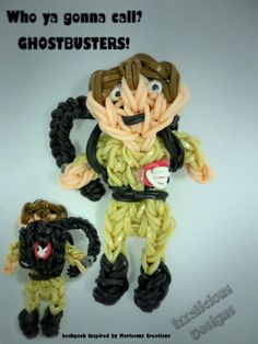 GHOSTBUSTER. Designed and loomed by Kate Schultz on the Rainbow Loom. (Rainbow Loom FB page.)