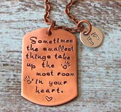 Hand Stamped Personalized New Mom Necklace  by lilybrookevintage, $38.00