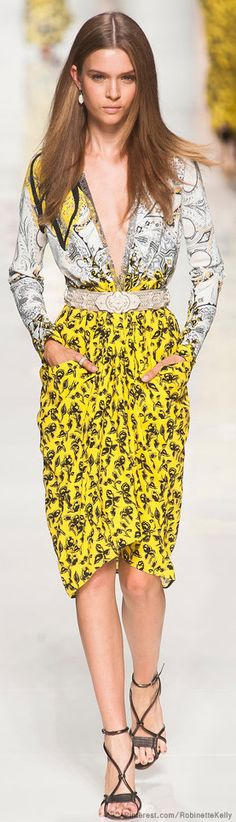 Etro | S/S 2014.Yellow is the color of the spring summer beautiful color that likes great on a woman.